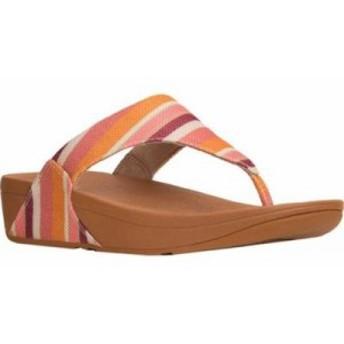 フィットフロップ ビーチサンダル Lulu Thong Sandal Orange Stripey Canvas