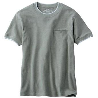【メンズ】 ドライ・綿100%鹿の子Tシャツ。待望のスマホ対応ポケット付き! - セシール ■カラー:ミディアムグレー ■サイズ:L,LL,3L,5L,S,M