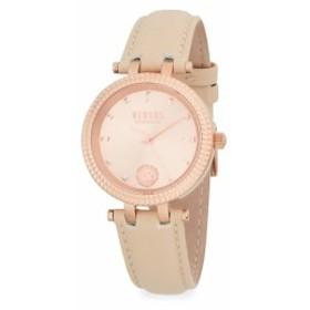 バーサス ヴェルサーチ レディース 腕時計 Posh Rose-Gold Stainless Steel & Leather Strap Watch