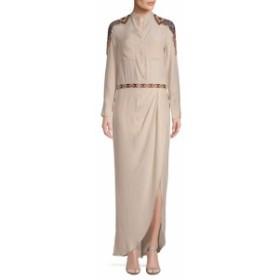 オートヒッピー レディース ワンピース Beaded Silk Shirt Dress