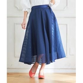 人気のため再入荷!!スタクロ シャドーチェックフレアースカート (大きいサイズレディース)スカート,plus size