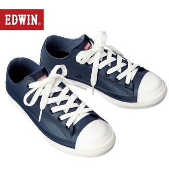 レインスニーカー(EDWIN) - セシール ■カラー:ネイビー ■サイズ:S(22.5),LL(24.5),L(24),M(23-23.5)