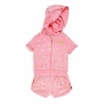 ジューシークチュール キッズ ガールズ トップス Little Girls Two-Piece Printed Hoodie and Shorts Set