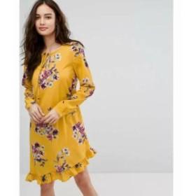 ヴィラ ワンピース Vila Floral Printed Dress With Frill Hem Multi