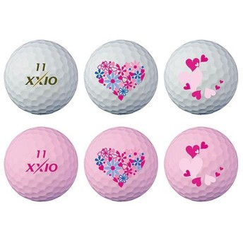 ゴルフボール ゼクシオ SUPER SOFT X オリジナルマーク《1スリーブ(2球)/プレミアムホワイト&プレミアムピンク》