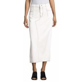 3.1 フィリップ リム レディース スカート Lace-Up Cotton Denim Midi Skirt