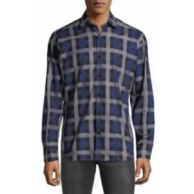 ヤレドラング Men Clothing Checkered Cotton Button-Down Shirt