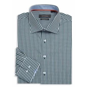 レビナス Men Clothing Contemporary-Fit Gingham Cotton Dress Shirt