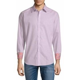 ロバートグラハム Men Clothing Garden Lake Cotton Button-Down Shirt