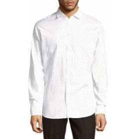 ディースクエアード Men Clothing Mini Diamond Cotton Button-Down Shirt