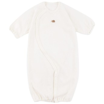 新生児 長袖ドレスオール フィットタイプ (ツーウェイオール) オフホワイト ベビー・キッズウェア 新生児・乳児(50~80cm) ドレス・ドレスオール (53)