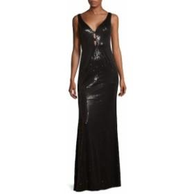 カルバンクライン レディース ワンピース V-Neck Floor-Length Dress