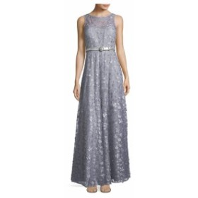 カールラガーフェルドパリ レディース ワンピース Floral Embroidered Floor-Length Gown