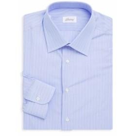 ブリオーニ Men Clothing Cotton Stripe Dress Shirt