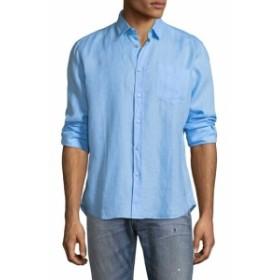 ヴィルブレクイン Men Clothing Caroubier Linen Sportshirt