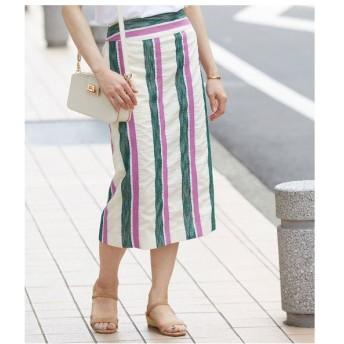 ROPE' / ロペ 【セットアップ対応】マルチストライプタイトスカート