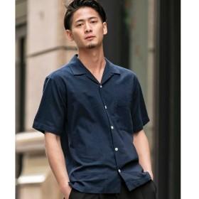 [マルイ]【セール】【ADMIX】綿/麻ストレッチ/オープンカラーシャツ(半袖)/A・S・M(A.S.M)