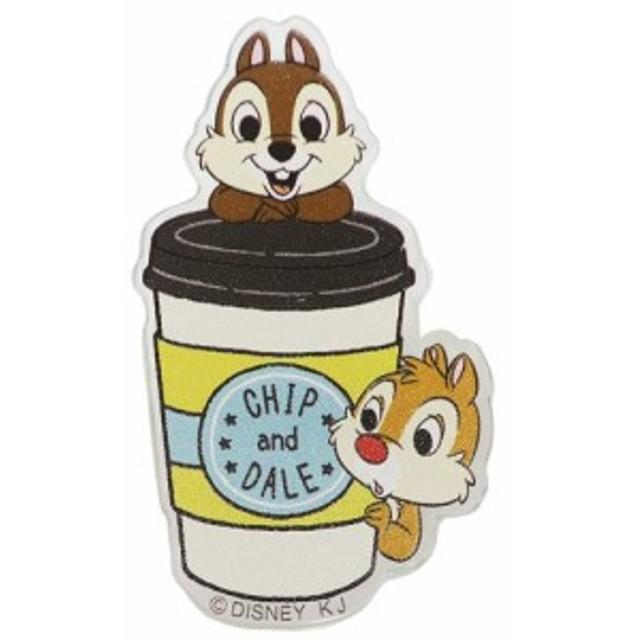 チップ&デール バッジ ダイカット アクリル バッジ カフェ ディズニー コレクション雑貨 キャラクター グッズ メール便可
