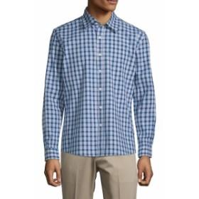 ハイデンヨー Men Clothing Plaid Slim-Fit Cotton Button-Down Shirt