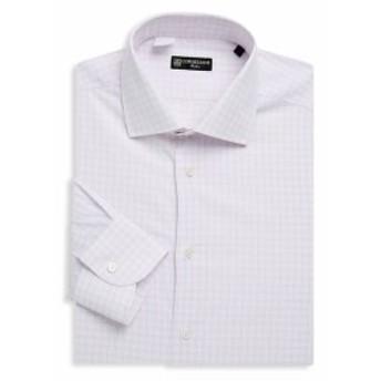 コーネリアーニ Men Clothing Checkered Cotton Dress Shirt