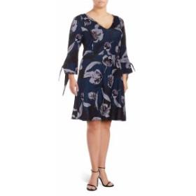 アレクシアアドモール レディース ワンピース Plus Floral-Print Fit-&amp-Flare Dress