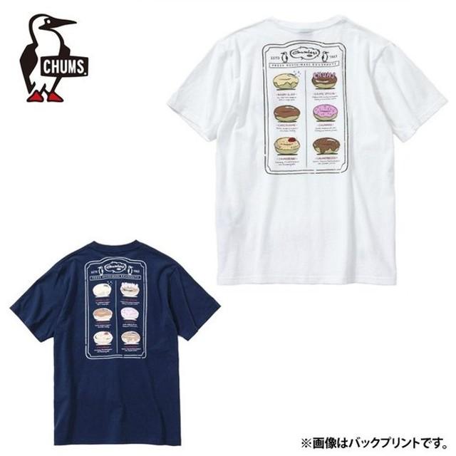 チャムス CHUMS Tシャツ 半袖 メンズ ドーナツメニューTシャツ CH01-1502