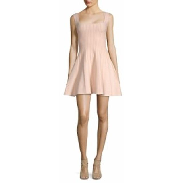 ロニーコボ レディース ワンピース Eti Textured Striped Fit-and-Flare Dress