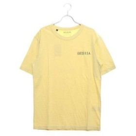 ゲス GUESS LOOSE-FIT U.S.A. LOGO TEE (YELLOW)