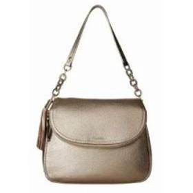 カルバンクライン ショルダーバッグ Lynn Pebble Flap Hobo Shoulder Bag Metallic Taupe