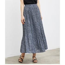 【ROPE' PICNIC:スカート】【WEB限定】花柄プリーツ加工スカート