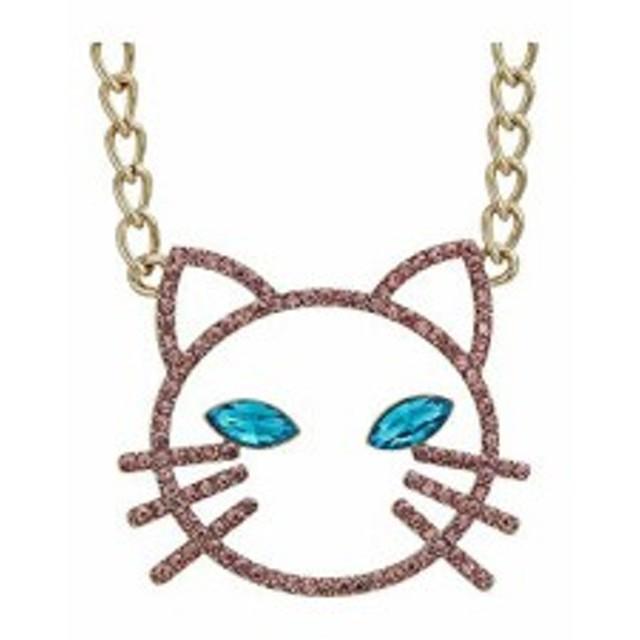 ベッツィ ジョンソン レディースアクセサリ ネックレス ペンダント Pink Stone Open Cat Face Pendant Nec