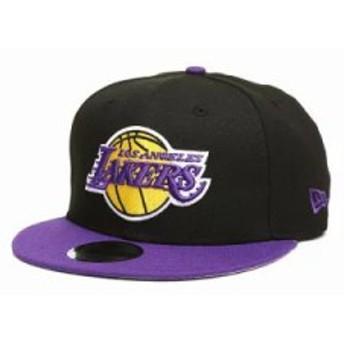 ニューエラ キャップ 9fifty los angeles lakers 2tone snapback hat Black