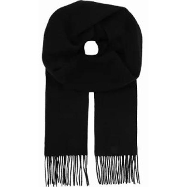 マックスマーラ マフラー・スカーフ・ストール logo cashmere scarf Black