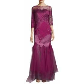 レネルイズ レディース ワンピース Quarter-Sleeve Ruffle Gown
