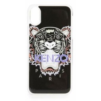 ケンゾー iPhone (X)ケース Silicon Tiger iPhone X Case Black