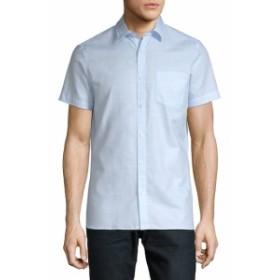 カルバンクライン Men Clothing Cotton Button-Down Shirt