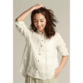 la.f. サフィランリネンレクセルゆったりシャツ シャツ・ブラウス,ホワイト系その他