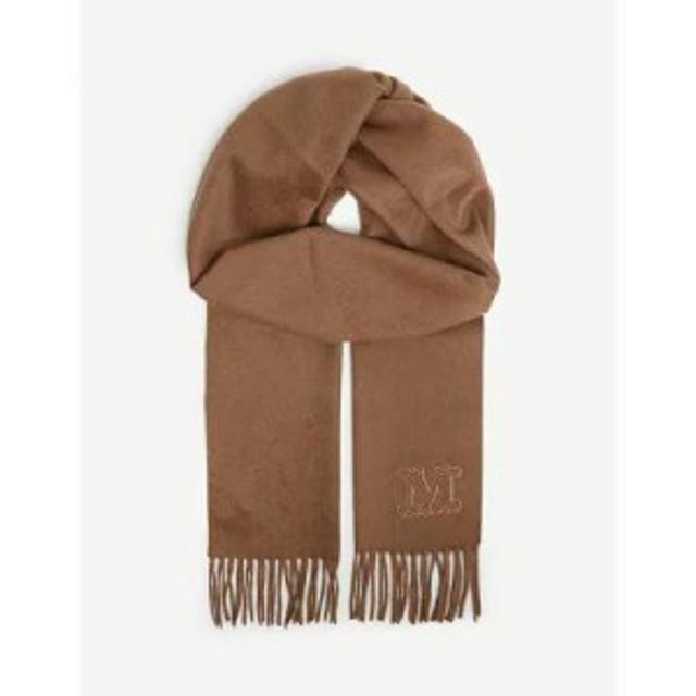マックスマーラ マフラー・スカーフ・ストール logo cashmere scarf Tobacco