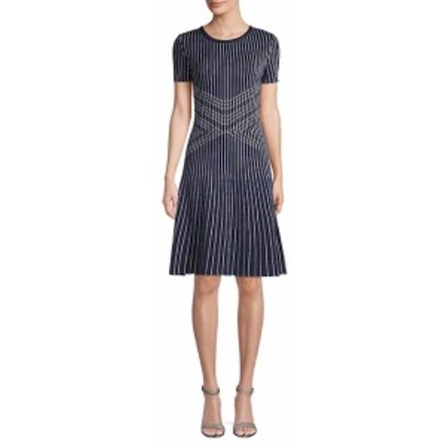 セント ジョン コレクション レディース ワンピース Atlantis Knit Striped Fit-and-Flare Dress