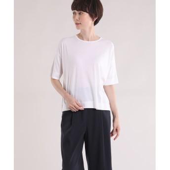 I.T.'S. international ラウンドネック半袖カットソー Tシャツ・カットソー,オフホワイト1