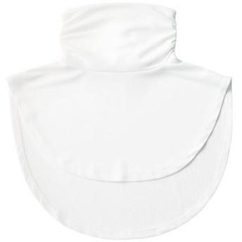 放熱吸汗付け襟風UVネックカバー美活計画 ■カラー:ホワイト