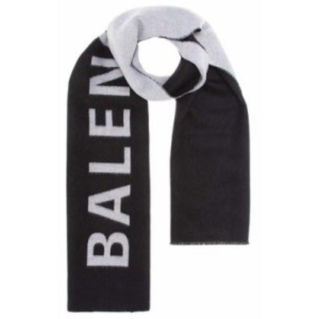 バレンシアガ マフラー・スカーフ・ストール Wool scarf Black/White
