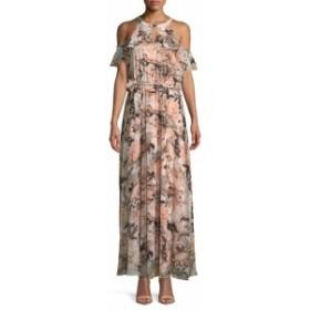 カルバンクライン レディース ワンピース Floral Cold-Shoulder Maxi Dress