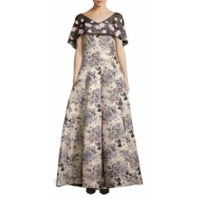 バッジリーミシュカ レディース ワンピース Floral-Motif Brocade Gown