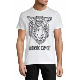 ロベルトカバリ メンズ スポーツ アウトドア Graphic Jersey Cotton Tee