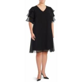 カルバンクライン レディース ワンピース V-Neck Shift Dress