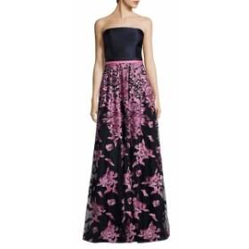 テイア レディース ワンピース Floral-Embroidered Strapless Gown