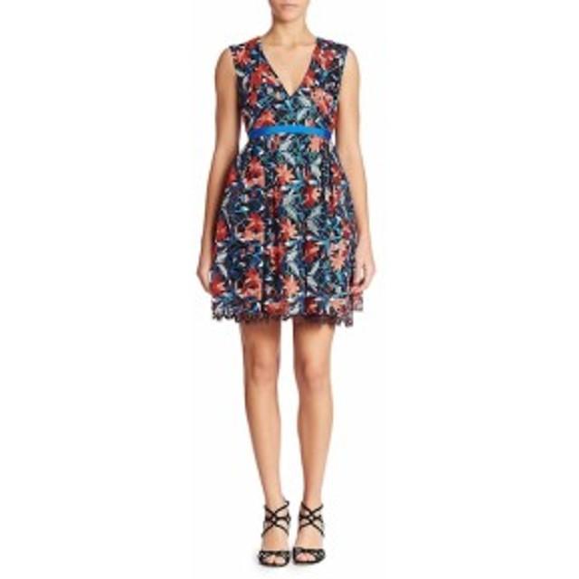 ML モニークリュエリ レディース ワンピース Sleeveless Floral Lace Dress