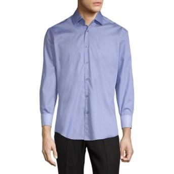 ベルティゴ Men Clothing Spread Coll Long Sleeve Shirt