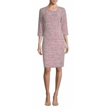 セント ジョン レディース ワンピース Wool-Blend Textured Sheath Dress